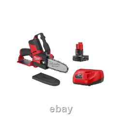 12volt Lithium Ion Brushless Chainsaw Kit Cordless Hatchet Pruning Mesh Filter