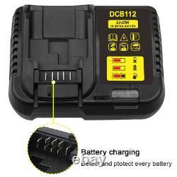 18V Cordless Brushless Impact Wrench for Dewalt 18V XR + 6.0Ah Battery + Charger
