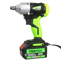 2in1 Impact Wrench 1/2 & 1/4 Electric Cordless Driver Car Repair Wheel Nut Gun