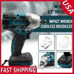 520NM 18V 1/2 Cordless Brushless Impact Wrench For Makita Battery DTW285Z