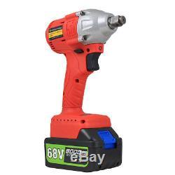 68V Cordless Electric Impact Wrench Brushless 3 Speed Torque 320 Nm with Battery