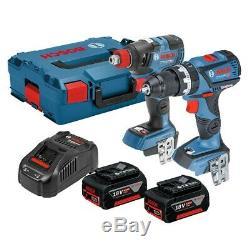 Bosch GSB 18 V-60 C Combi + GDX 18 V-200 C Impact Wrench Twin Kit 06019G4272