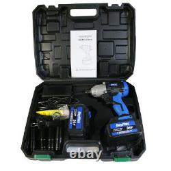 Cordless Impact Wrench Driver 1/2 Inch & 4 Sockets & 2x Batteries 12Ah & Charger