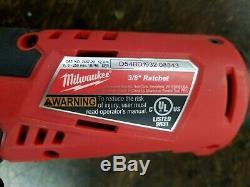 Cordless Ratchet Combo Kit 3/8in +1/2in Brushless 12V Lithium Ion 3.0 Ah Battery