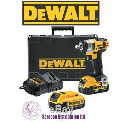 DEWALT 18V XR LI-ION 2 x 18V 4AH BATTERIES COMPACT IMPACT WRENCH DCF880M2