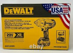 DEWALT 20V MAX XR Li-Ion 1/2 in. Impact Wrench with Detent Pin Anvil DCF899M1- New