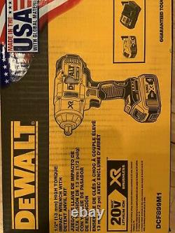DEWALT DCF899M1 20V MAX XR Li-Ion 1/2 Impact Wrench with Detent Pin Anvil NEW