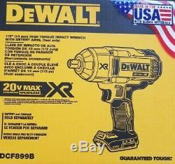DEWALT Dcf899b 20V 20 volt 1/2 HIGH TORQUE BRUSHLESS IMPACT WRENCH New 2019