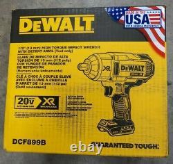 DeWALT DCF899B 20V XR High Torque Impact Wrench w Detent Anvil NEW FREE SHIP