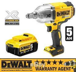 DeWALT DCF899HN 18v XR Brushless HT Impact Wrench Hogring Naked & 5Ah Battery N