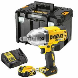 DeWALT DCF899P1 18V Brushless Impact Wrench with 1 x 5Ah Battery Charger & TStak