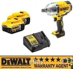 DeWALT DCF899P2 DCF899N 18v XR Cordless Impact Wrench 2 x 5Ah Batt NEW