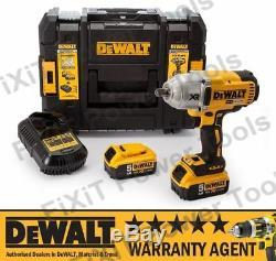 DeWALT DCF899P2 DCF899N 18v XR Cordless Impact Wrench 2 x 5Ah Batt RW
