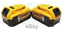 DeWALT DCF899 20V XR Brushless 1/2 Detent Impact Wrench 2 5.0 Ah DCB205 Battery