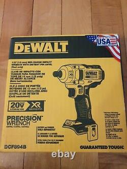 DeWalt DCF894 20V MAX XR Lithium-Ion Brushless 1/2 in. Impact Wrench NEW