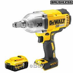 DeWalt DCF899HN 18V Brushless High Torque Impact Wrench with 1 x 5.0Ah Battery