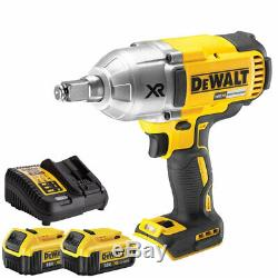 DeWalt DCF899HN 18V Brushless Impact Wrench with 2 x 4.0Ah Batteries & Charger