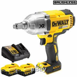 DeWalt DCF899HN 18V Brushless Impact Wrench with 2 x 5.0Ah Batteries & Charger