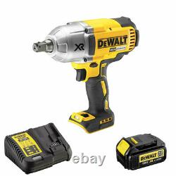 DeWalt DCF899N 18V Brushless Cordless Impact Wrench with 1 x 4Ah Battery & Charger