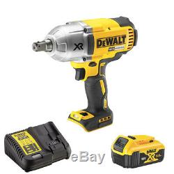 DeWalt DCF899N 18V Brushless Cordless Impact Wrench with 1 x 5Ah Battery & Charger