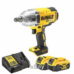 DeWalt DCF899N 18V Brushless Cordless Impact Wrench with 2 x 5Ah Battery & Charger