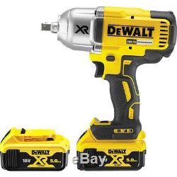 DeWalt DCF899 18V XR Brushless High Torque Impact Wrench 2 x 5.0Ah