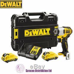 Dewalt 12v Xr Brushless Compact 3/8 Impact Wrench, 2 X 2ah Batteries Dcf902d2