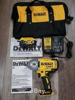 Dewalt 20V MAX XR 1/2 High Torque Impact Wrench + 5.0 Battery + Charger DCF899H