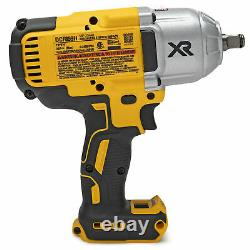 Dewalt 20V MAX XR Brushless 1/2 In Impact Wrench with Hog Ring Anvil Tool Only