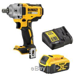 Dewalt DCF894N 1/2 Compact Impact Wrench 18V 1 x 5Ah Battery DCB184 and Charger