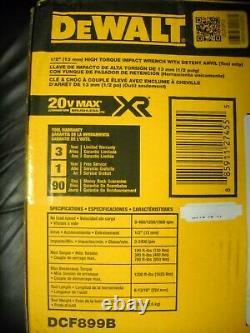 Dewalt DCF899B 20v MAX XR Brushless 1/2 Impact Wrench Detent Pin NEW