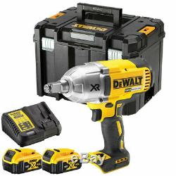 Dewalt DCF899P2 18V XR Brushless Impact Wrench 1/2 Square Drive with 2 X 5.0Ah