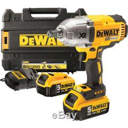 Dewalt Dcf899p2 Xr 18v Brushless 3 Speed High Torque Impact Wrench With 2 X 5ah