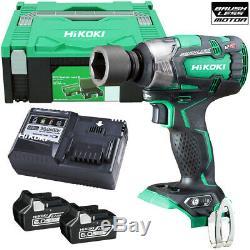 Hitachi & HiKOKI WR18DBDL2 18V 1/2 Brushless Impact Wrench + 2 x 6Ah Batteries