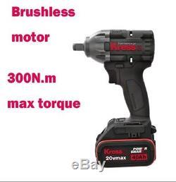KRESS German brand Cordless 20v Impact Wrench / BRUSHLESS 1/2 High Torque WX279