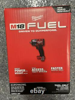 M18 FUEL 2962-20 1/2 Mid-Torque Impact Wrench with Friction Ring Tool Only
