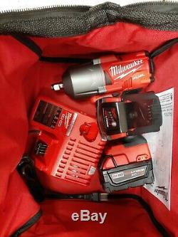 MILWAUKEE2767-22M18 FUEL HighTorque 1/2Impact Wrench 1400 FT/LBSWith5.0AhNew