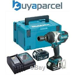 Makita DTW1001RTJ 18v LXT Brushless Impact Wrench 3/4 + 2 x 5.0ah + Makpac