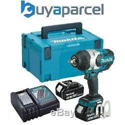Makita DTW1002RMJ 18v LXT Brushless Impact Wrench 1/2 + 2 x 4.0ah + Makpac
