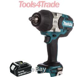Makita DTW1002Z 18V LXT Brushless 1/2 Impact Wrench + 1 x 3.0Ah BL1830 Battery