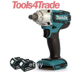 Makita DTW190Z 18V Cordless 1/2 Impact Wrench with 2 x 3.0Ah BL1830 Batteries
