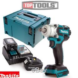 Makita DTW285Z 18V Brushless Impact Wrench + 2 x 5Ah Batteries, Charger & Case