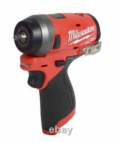 Milwaukee 2552-20 12V Li-Ion Brushless Cordless Stubby 1/4 in. Impact Wrench