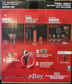 Milwaukee 2552-20 M12 FUEL Stubby 1/4 in. Impact Wrench BARE TOOL