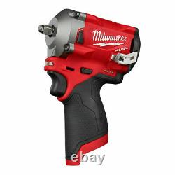 Milwaukee 2554-20 M12 FUEL Stubby 3/8 Impact Wrench 48-11-2412 M12 XC Battery 2