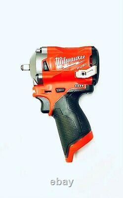 Milwaukee 2554-20 M12 Fuel 3/8 Stubby Impact Wrench (Tool-Only) NEW