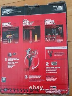 Milwaukee 2554-20 M12 Fuel 3/8 Stubby Impact Wrench Tool Only NIB