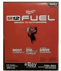 Milwaukee 2554-20 Stubby 3/8 in. Impact Wrench (Bare Tool) NEW