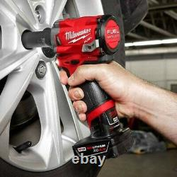 Milwaukee 2555-20 M12 1/2 Drive Fuel Stubby Impact Wrench Bare Tool