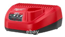Milwaukee 2555-22 Stubby 1/2 Impact Wrench with 2 Batteries Kit New Free Shipping